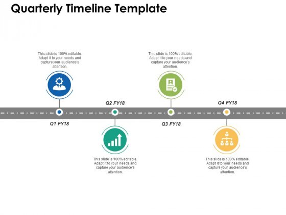 Quarterly Timeline Template Ppt PowerPoint Presentation Pictures Graphics Download