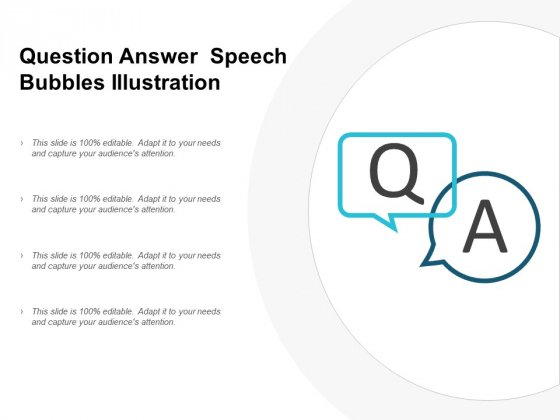Question Answer Speech Bubbles Illustration Ppt PowerPoint Presentation File Introduction