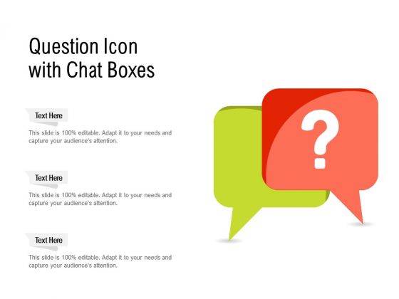 Question Icon With Chat Boxes Ppt PowerPoint Presentation File Slide Portrait PDF