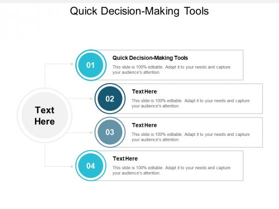 Quick Decision Making Tools Ppt PowerPoint Presentation Infographics Vector Cpb