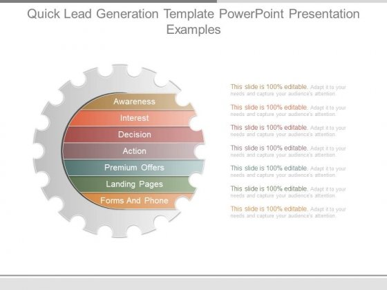 Quick Lead Generation Template Powerpoint Presentation Examples