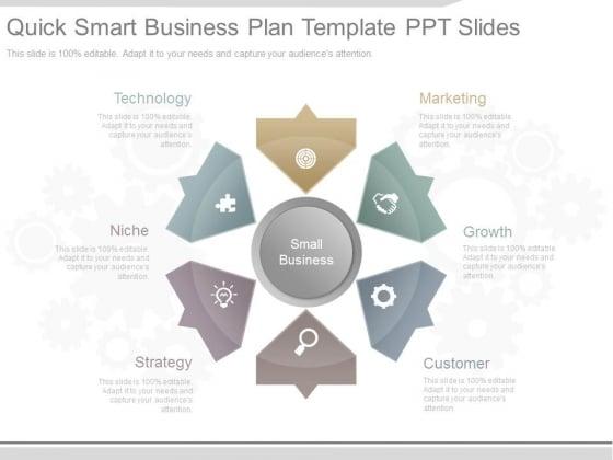 Quick Smart Business Plan Template Ppt Slides