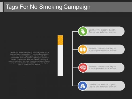 Quit Smoking For Health Reasons Powerpoint Template