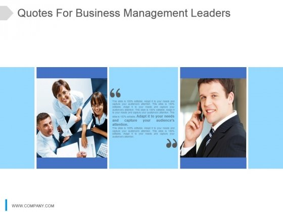 Quotes For Business Management Leaders Ppt Slide Design