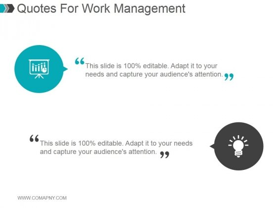 Quotes For Work Management Ppt PowerPoint Presentation Styles