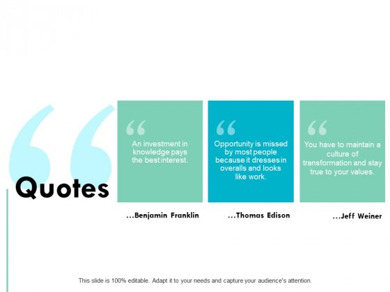 Quotes Marketing Business Ppt PowerPoint Presentation Portfolio Influencers