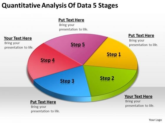 Quantitative Analysis Of Data  Stages Business Plan For Bar