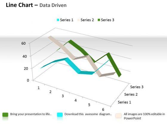 Quantitative Data Analysis 3d Line Chart For Comparison Of PowerPoint Templates