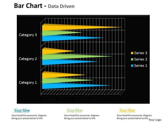 Quantitative Data Analysis Bar Chart For Financial Markets PowerPoint Templates