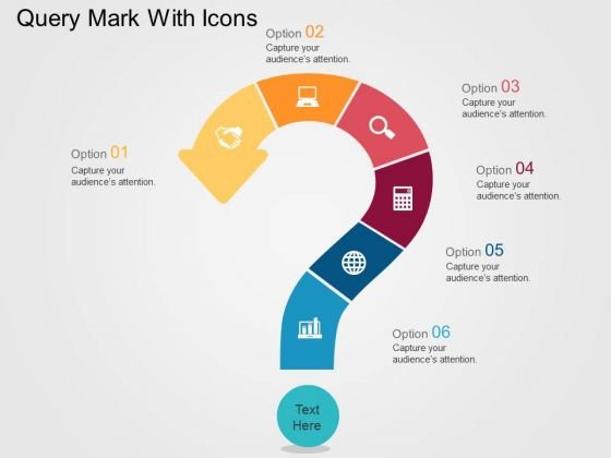 Query Mark With Icons PowerPoint Templates