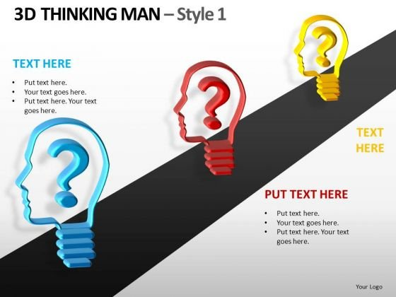 Questions Ahead Thinking Men PowerPoint Templates And Ppt Slides