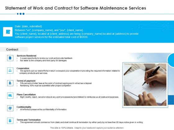 RFP Software Maintenance Support Statement Of Work And Contract For Software Maintenance Services Background PDF