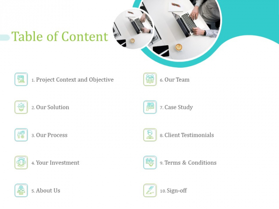 RIS Table Of Content Ppt PowerPoint Presentation Layouts Icon PDF