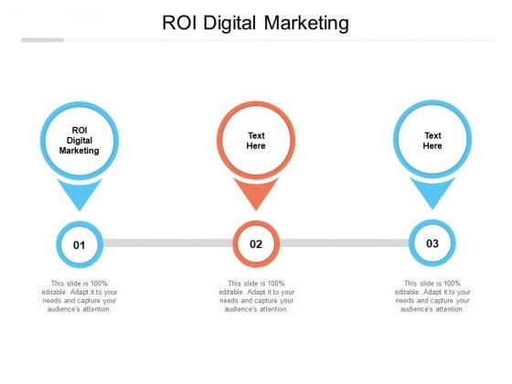 ROI Digital Marketing Ppt PowerPoint Presentation Outline Brochure Cpb