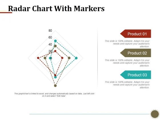 Radar Chart With Markers Ppt PowerPoint Presentation Portfolio Slides