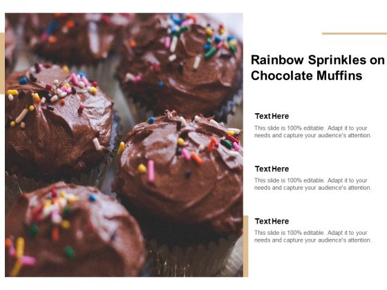 Rainbow Sprinkles On Chocolate Muffins Ppt PowerPoint Presentation Inspiration Good