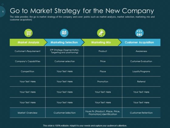 Raise Funding From Pre Seed Capital Go To Market Strategy For The New Company Information PDF
