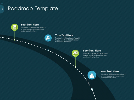 Raise Funding From Pre Seed Capital Roadmap Template Portrait PDF