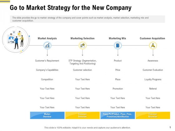 Raise Funding From Pre Seed Money Go To Market Strategy For The New Company Diagrams PDF