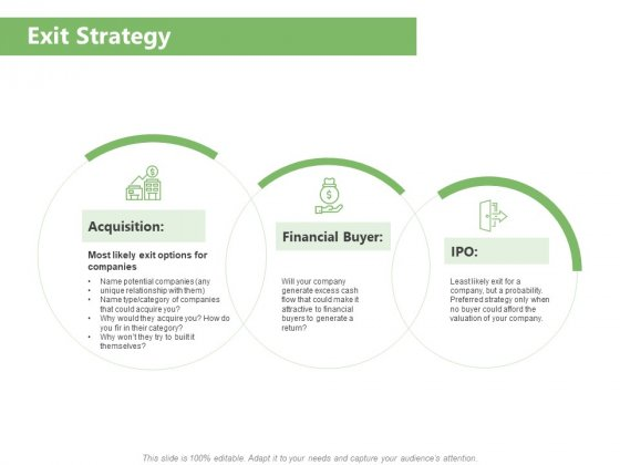 Raising Funds Company Exit Strategy Ppt Gallery Example PDF