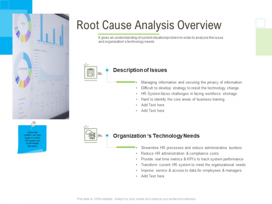 Rapid Innovation In HR Technology Space Root Cause Analysis Overview Ppt Icon Slides PDF