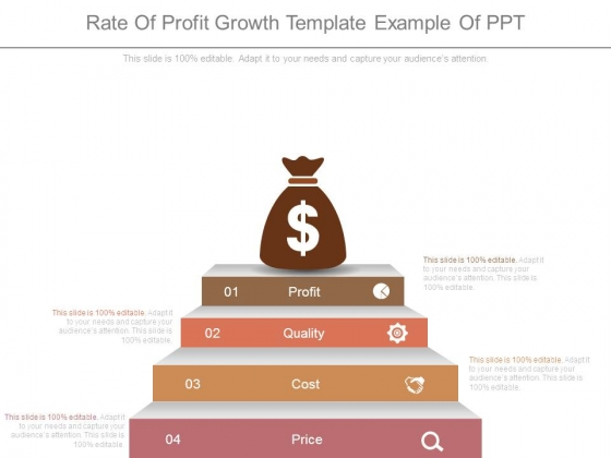 Rate Of Profit Growth Template Example Of Ppt