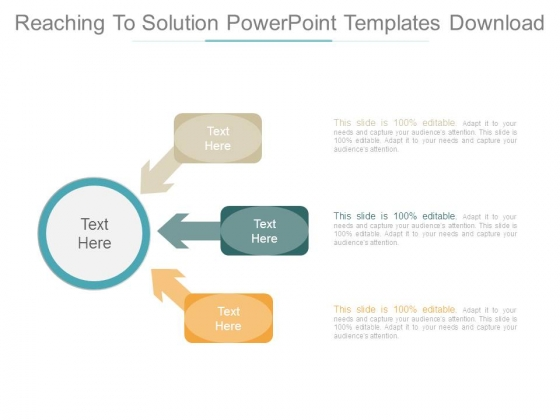 Reaching To Solution Powerpoint Templates Download