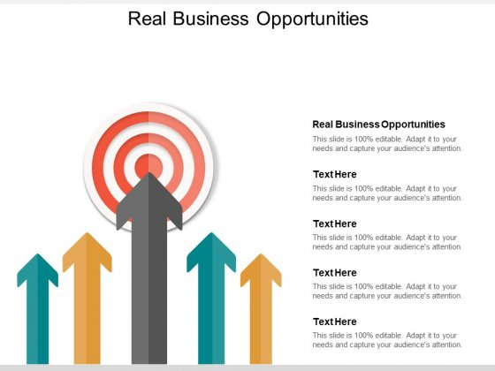 Real Business Opportunities Ppt PowerPoint Presentation Show Design Ideas Cpb