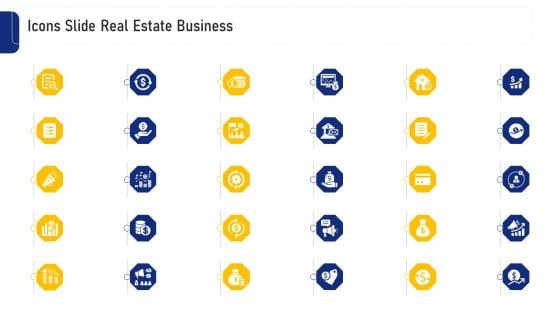 Real Estate Business Icons Slide Real Estate Business Ppt Ideas Slide Portrait PDF