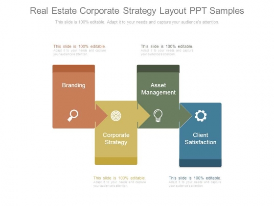 Real Estate Corporate Strategy Layout Ppt Samples