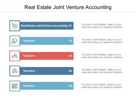Real Estate Joint Venture Accounting Ppt PowerPoint Presentation Layouts Templates Cpb