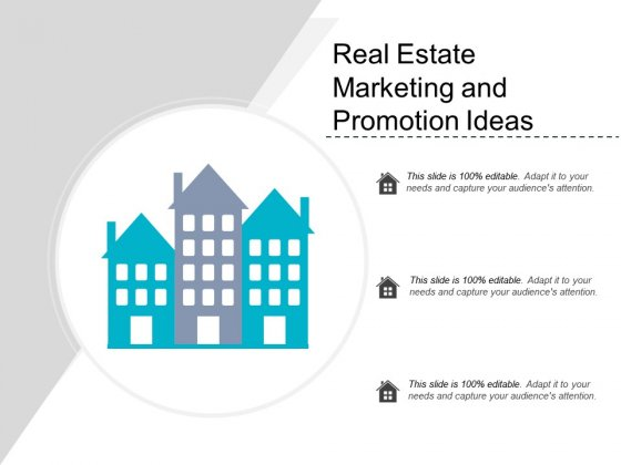 Real Estate Marketing And Promotion Ideas Ppt PowerPoint Presentation Outline Example Topics