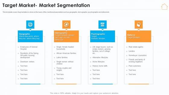 Real Estate Marketing Strategy Vendors Target Market Market Segmentation Microsoft PDF