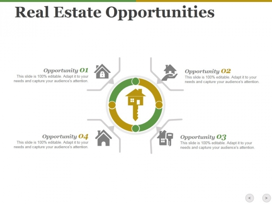 real estate opportunities ppt powerpoint presentation show design