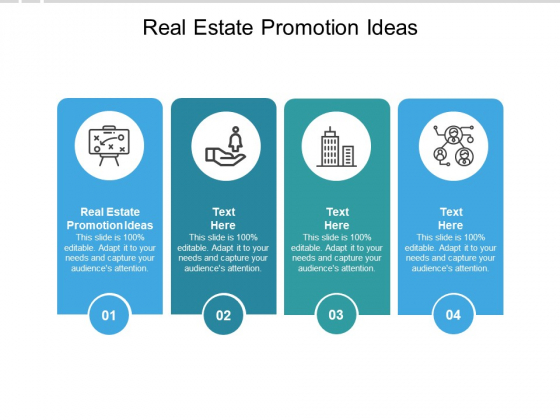Real Estate Promotion Ideas Ppt PowerPoint Presentation Outline Slide Cpb