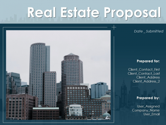 Real Estate Proposal Ppt PowerPoint Presentation Complete Deck With Slides