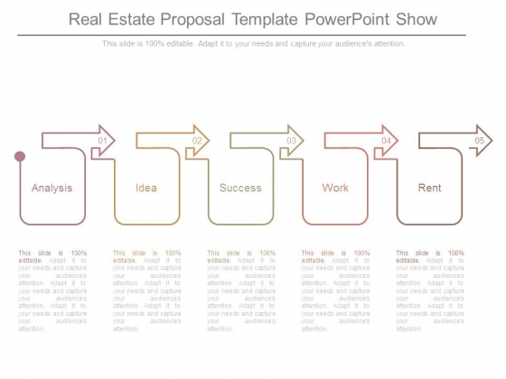 Real Estate Proposal Template Powerpoint Show  Powerpoint Templates