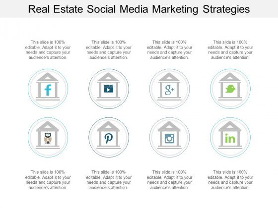 Real Estate Social Media Marketing Strategies Ppt PowerPoint Presentation Slides Styles