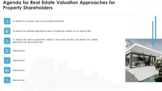 Real Estate Valuation Approaches For Property Shareholders Agenda For Real Estate Valuation Approaches For Property Shareholders Diagrams PDF