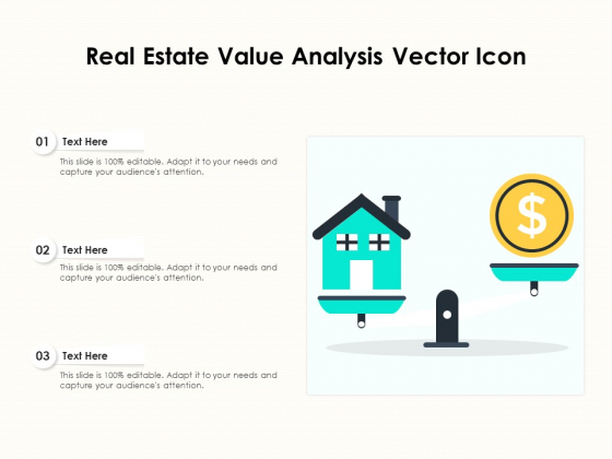 Real Estate Value Analysis Vector Icon Ppt PowerPoint Presentation File Graphics Design PDF