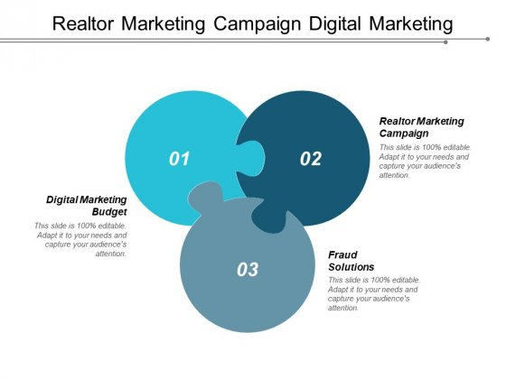 Realtor Marketing Campaign Digital Marketing Budget Fraud Solutions Ppt PowerPoint Presentation Icon Layout Ideas