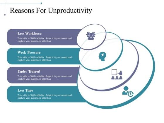 Reasons For Unproductivity Ppt PowerPoint Presentation Model Elements