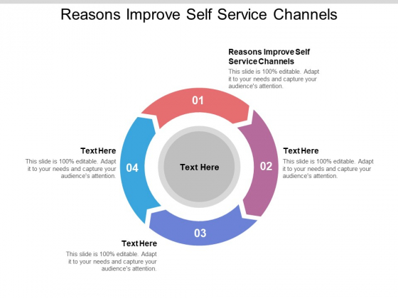 Reasons Improve Self Service Channels Ppt PowerPoint Presentation Pictures Maker Cpb Pdf