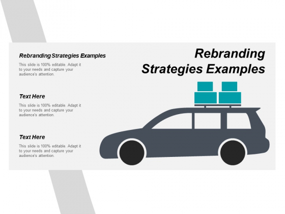 Rebranding Strategies Examples Ppt PowerPoint Presentation Icon Elements Cpb