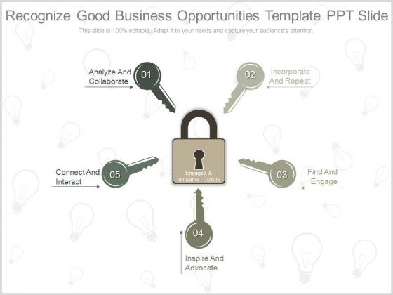 Recognize Good Business Opportunities Template Ppt Slide
