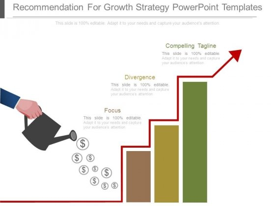 Recommendation For Growth Strategy Powerpoint Templates