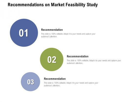 Recommendations On Market Feasibility Study Ppt PowerPoint Presentation Pictures Smartart