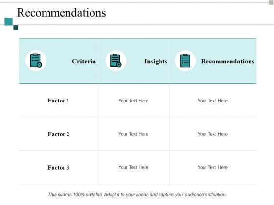 Recommendations Ppt PowerPoint Presentation Design Ideas