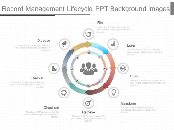 Record Management Lifecycle Ppt Background Images