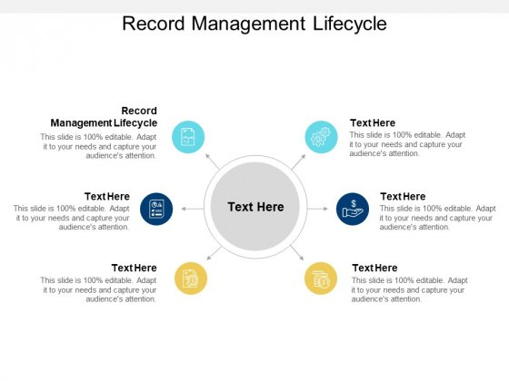 Record Management Lifecycle Ppt PowerPoint Presentation Ideas Inspiration Cpb
